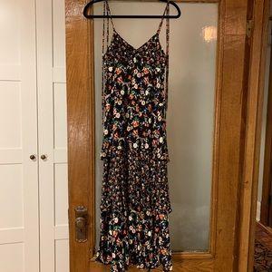 CLUB MONACO Floral Tiered Maxi Dress